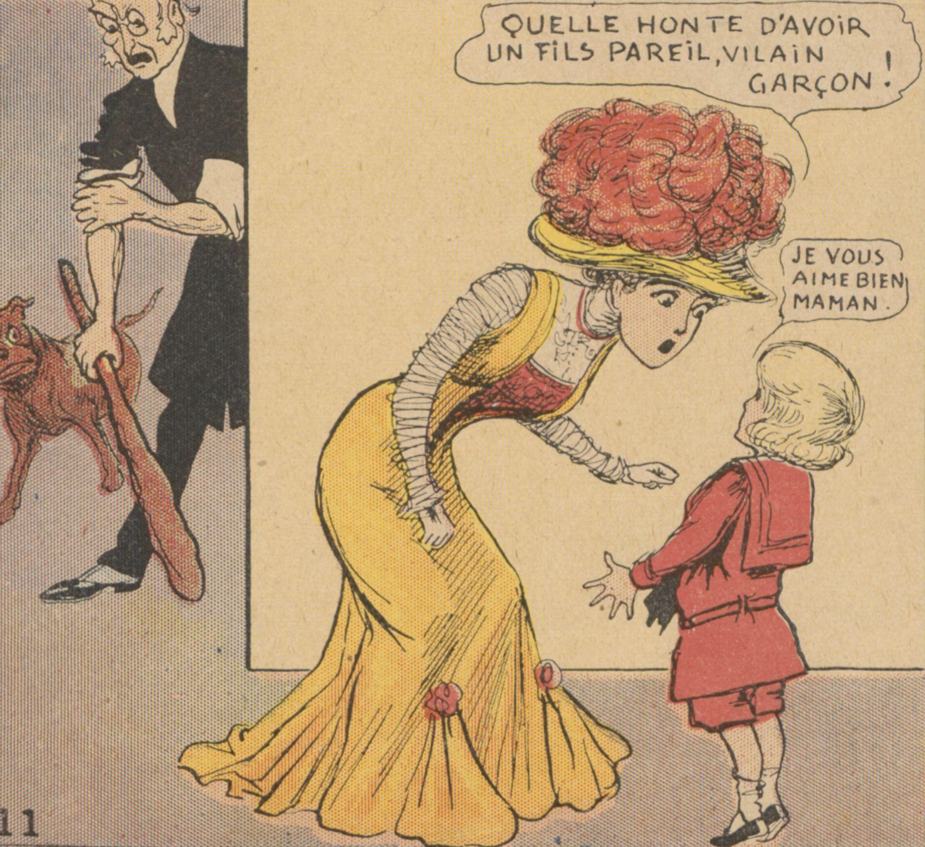Richard Felton Outcault, Les dernières aventures de Buster Brown. Hachette, 1910 (Gallica)