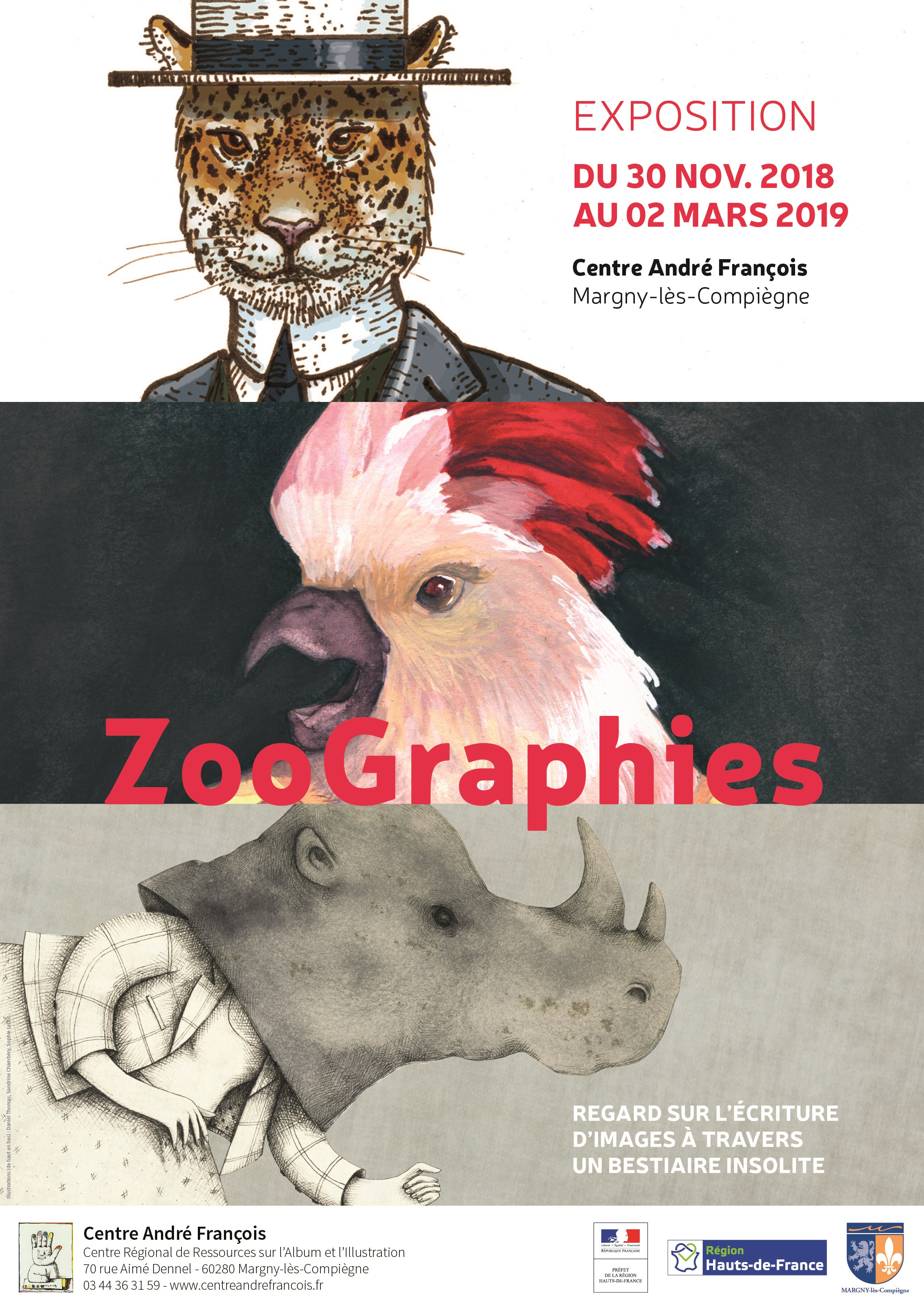"""Affiche Exposition """"ZooGraphies"""""""