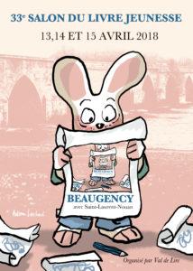 Affiche 33e Salon du Livre Jeunesse de Beaugency et Saint-Laurent-Nouan