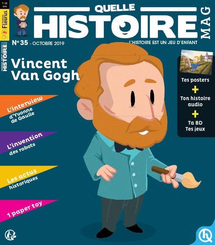 Couverture : Quelle Histoire n°35 octobre 2019