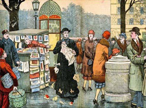 L'abbé Bethléem lacérant des journaux, Le Pèlerin, 23 janvier 1927