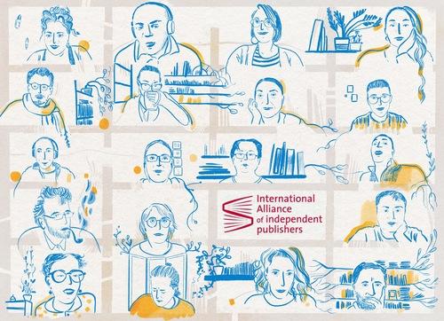 Dessin de Mariette Robbes / l'Alliance Internationale des Éditeurs Indépendants
