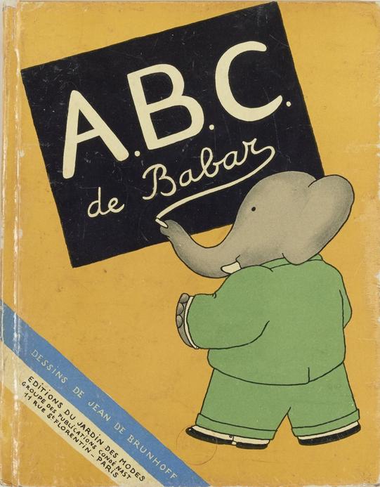Couverture de l'ABC de Babar
