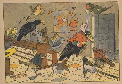 La pension des oiseaux / dessins de Jordic ; texte de Tony d'Ulmès, 1927.