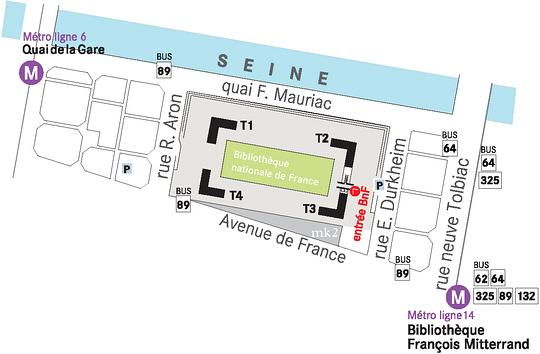 Plan d'accès site François Mitterrand