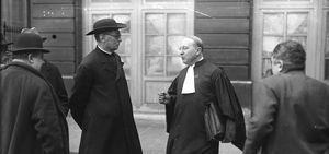 Procès de l'abbé Bethléem, 16 mars 1927 – Agence Rol