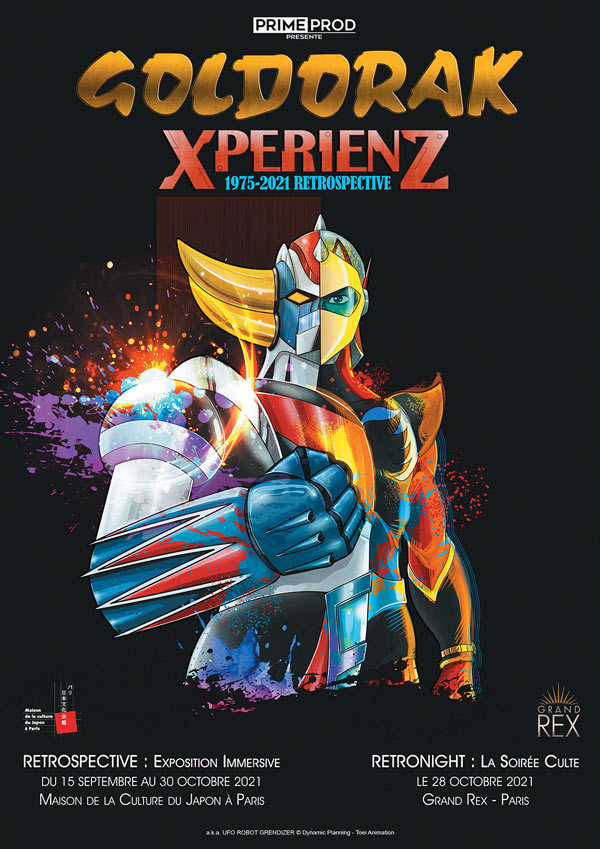 "Exposition ""Goldorak-XperienZ : 1975-2021 Retrospective"""