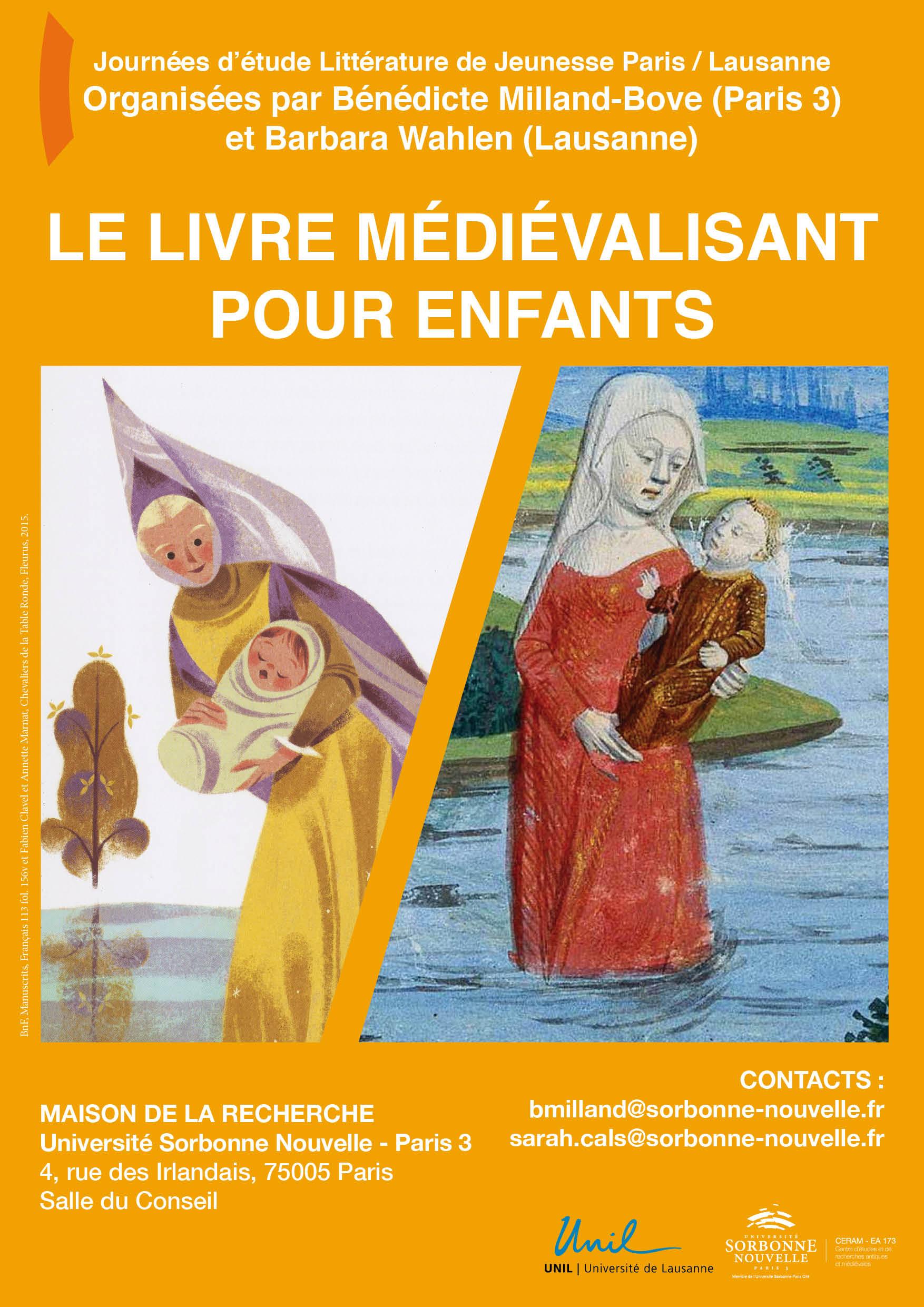 """Journée d'étude """"Le livre médiévalisant pour enfants"""""""