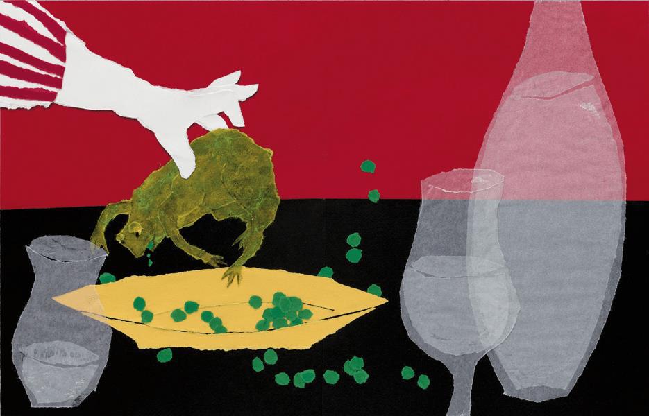 """Exposition """"Sara : Des animaux et des hommes , une narration en papier déchiré"""""""