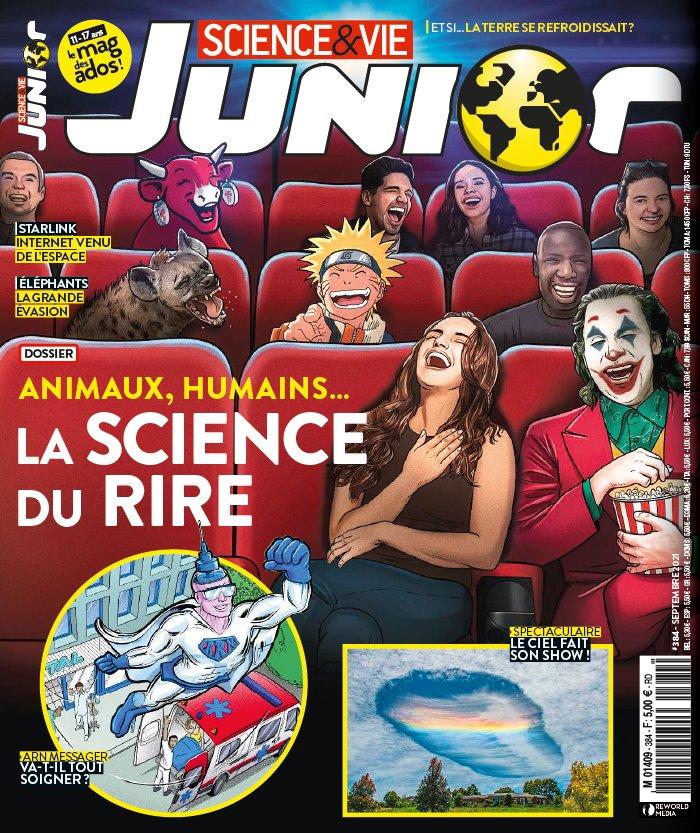 Couverture : Science & Vie Junior n° 384, septembre 2021