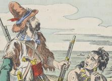 Histoire de Robinson Crusoé, imagerie d'Epinal, 1876